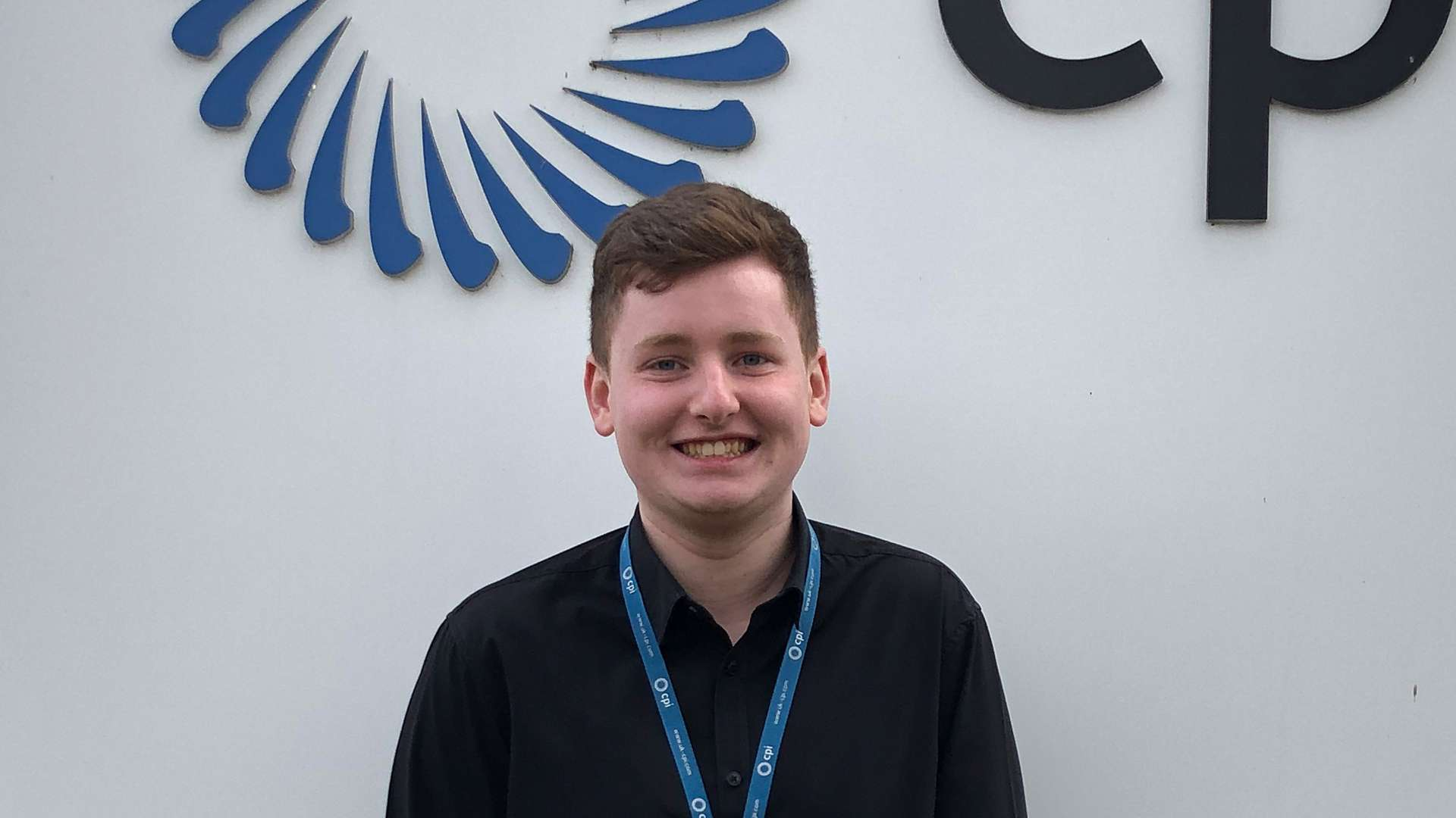 A photo of Aaron Parkinson, an apprentice at CPI.