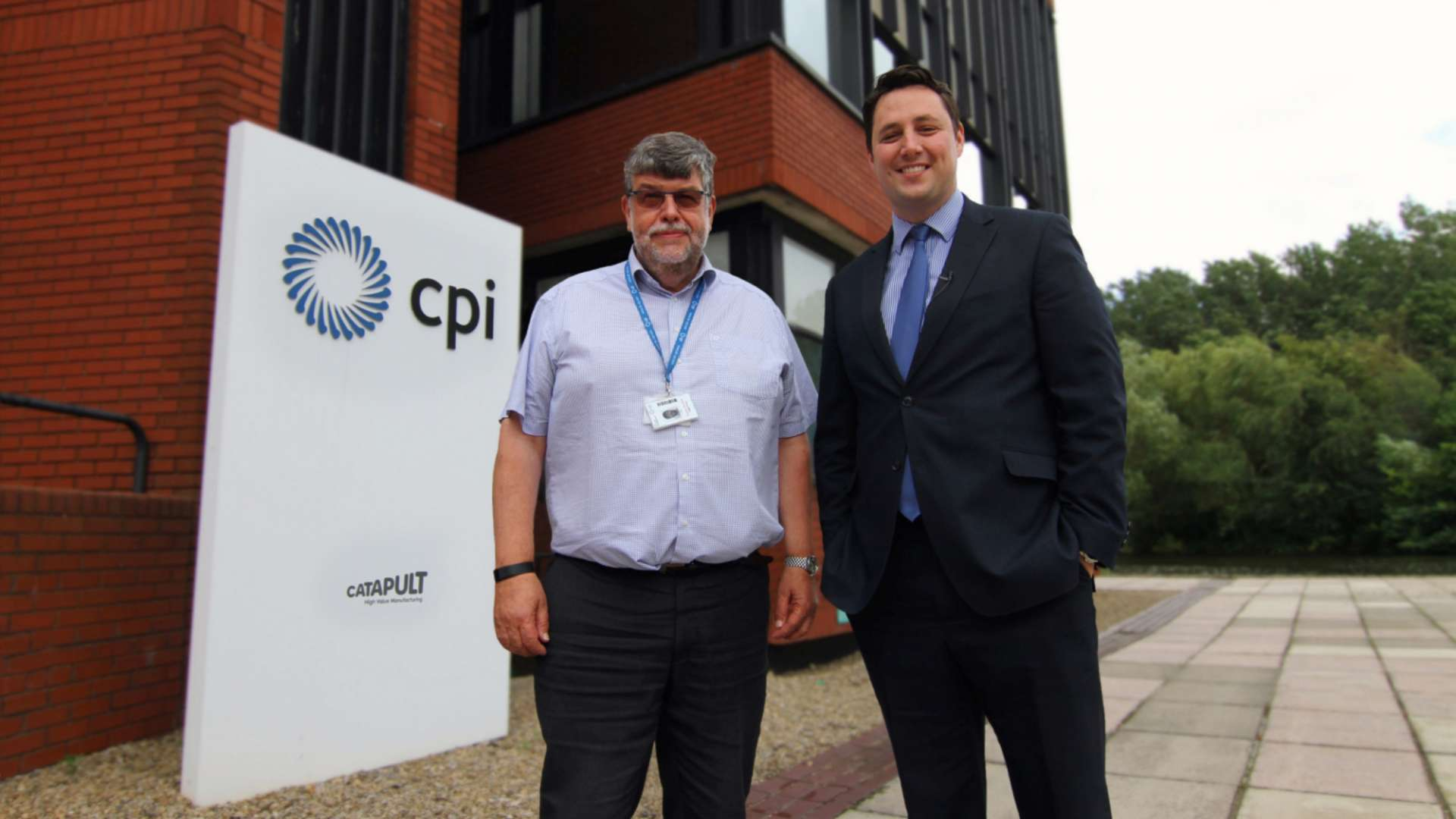 Tees Valley Mayor Ben Houchen, right, with CPI  Chief Executive Nigel Perry