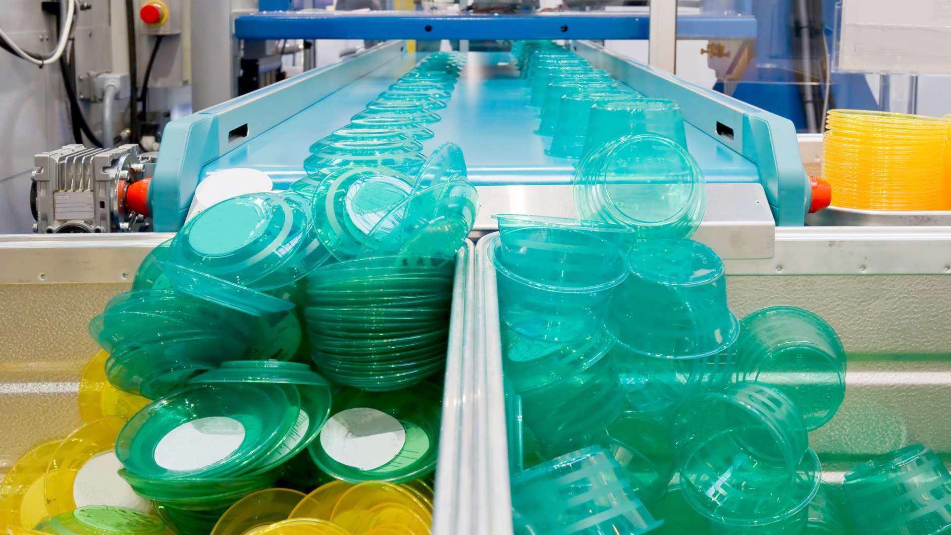 A photo of bioplastic packaging being manufactured