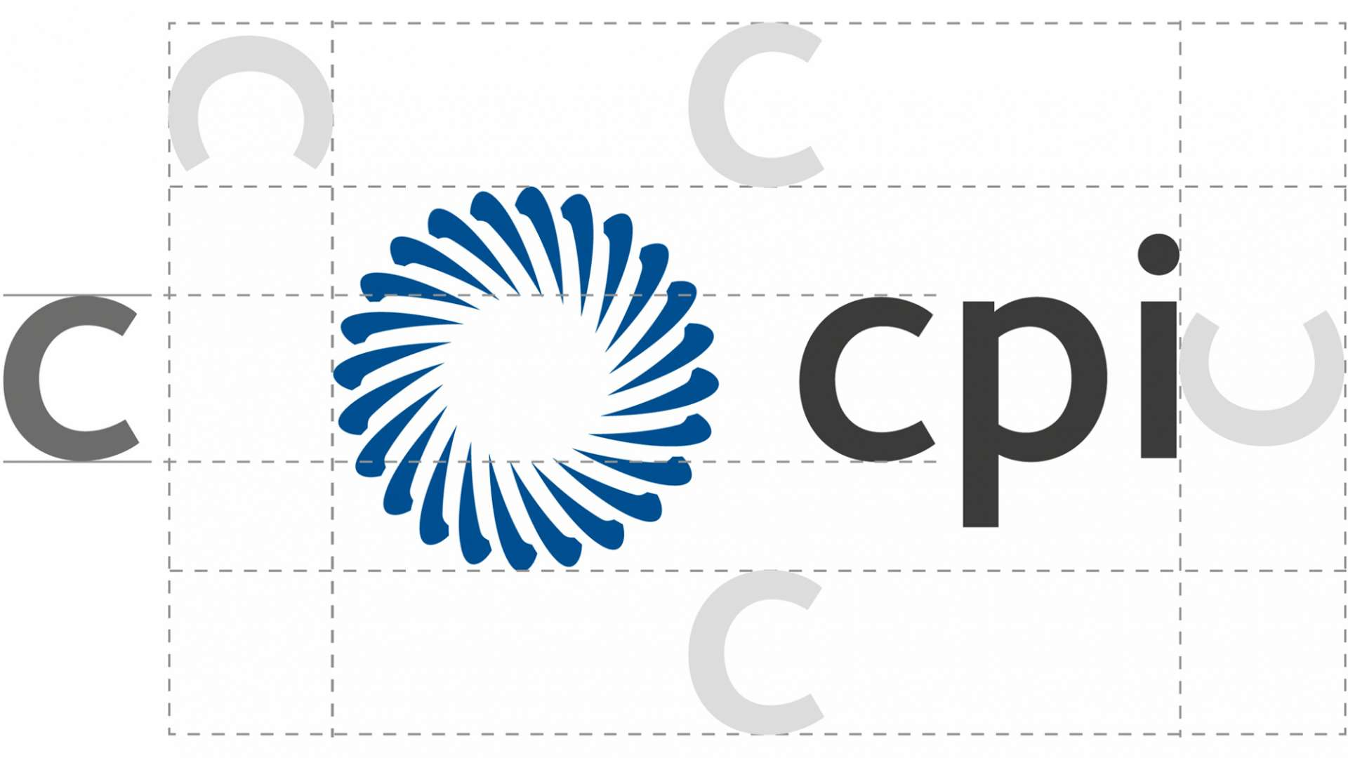 A diagram of CPI's logo spacing guidelines
