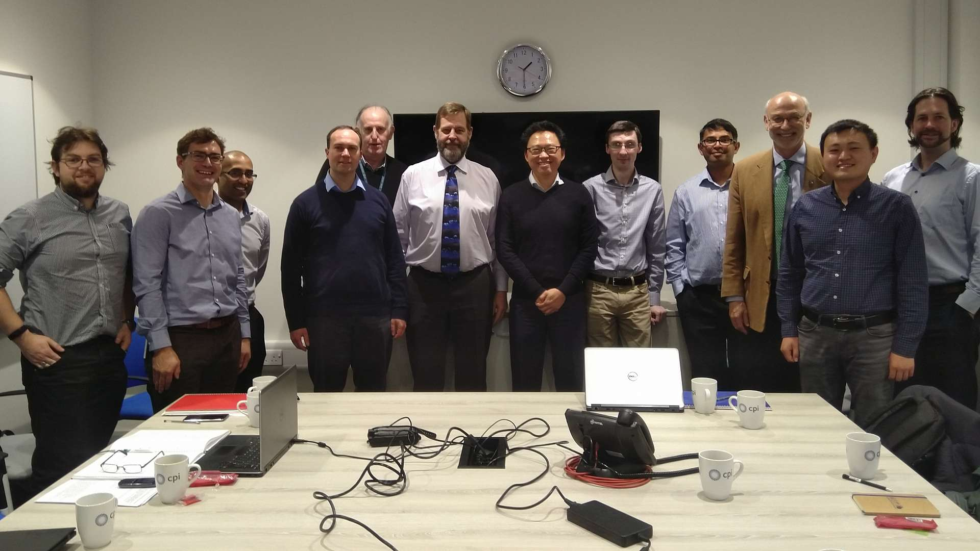 The Models MPP team, pictured during a meeting at CPI's National Formulation Centre to discuss how to maximise the impact of the project across the UK's chemicals sector