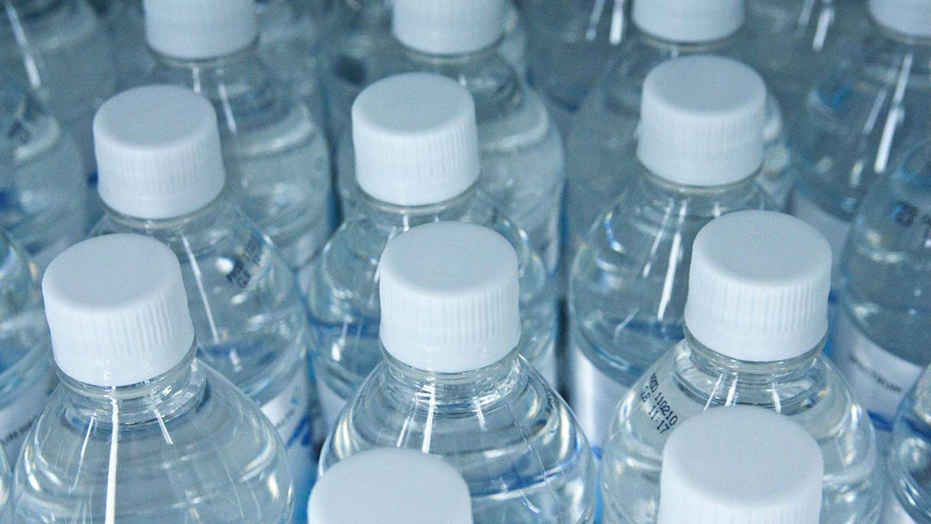 A photo of plastic bottled water
