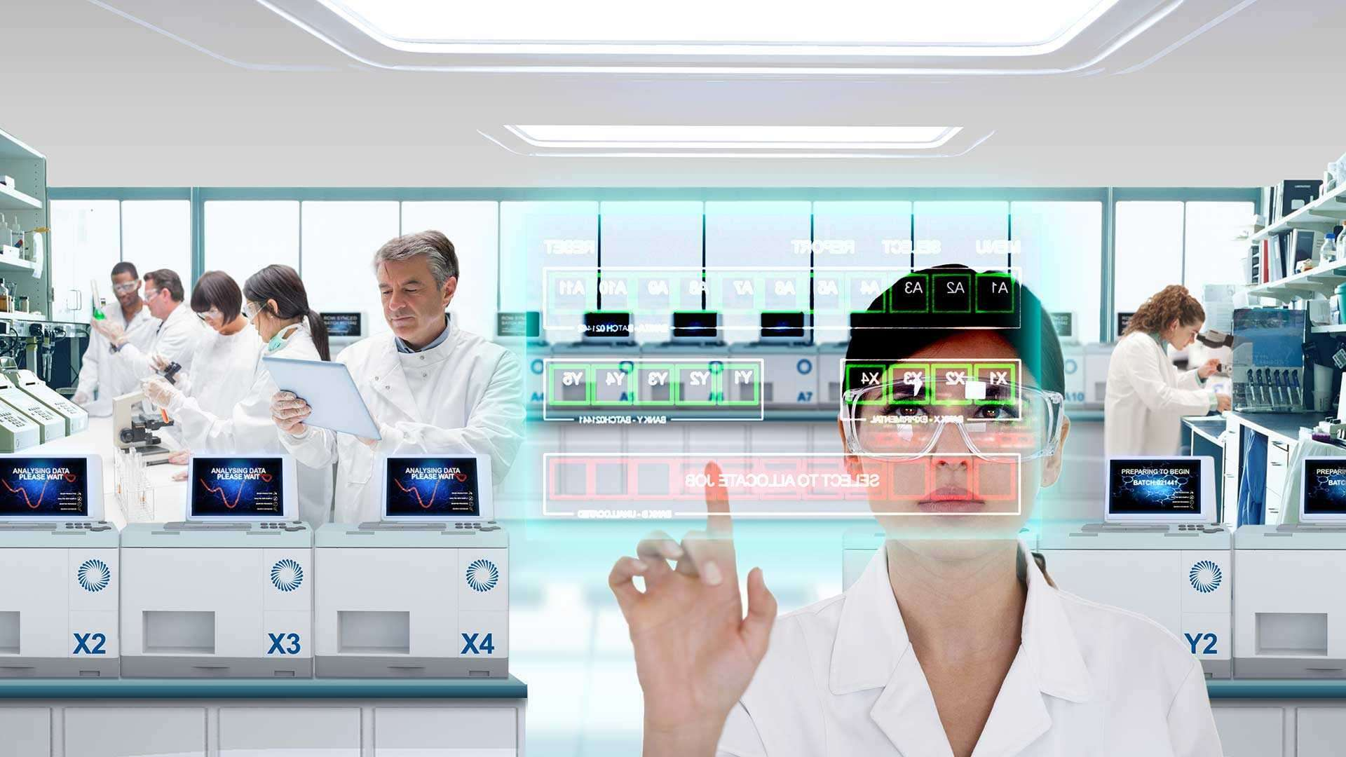 A photo of what medicine manufacturing might look like in the future