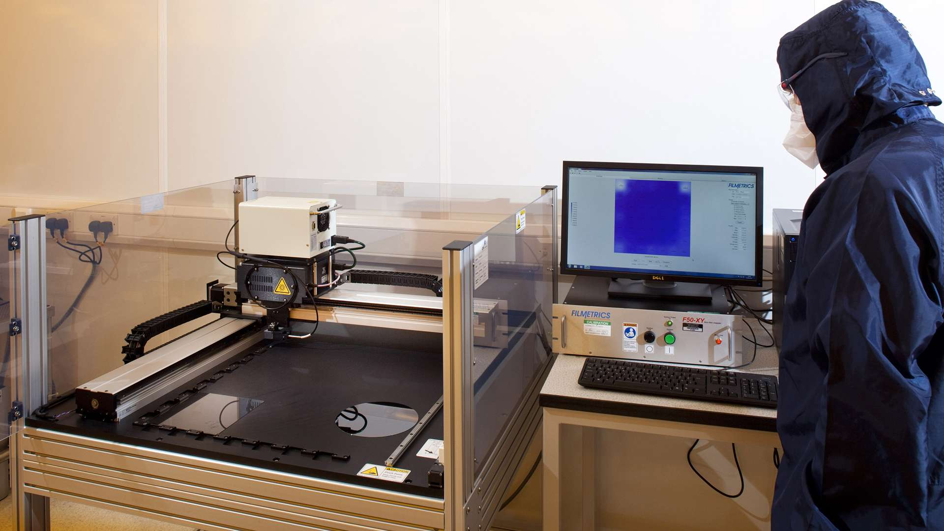 A photo of a printed circuit being analysed at CPI