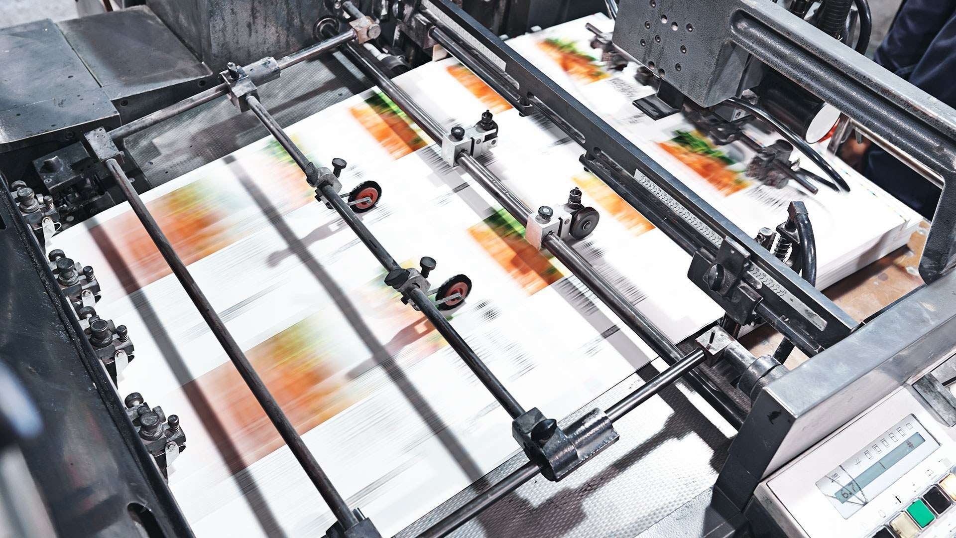 A photo of food packaging being printed