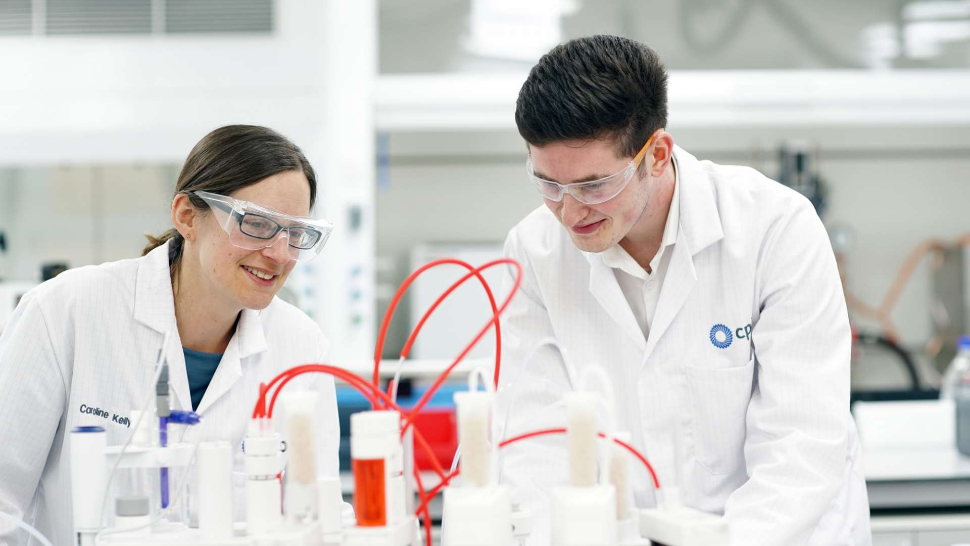 A photo of CPI staff working in a formulation laboratory