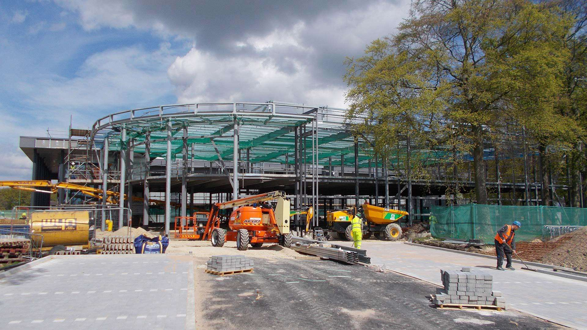 Building work continues on the National Centre for Healthare Photonics