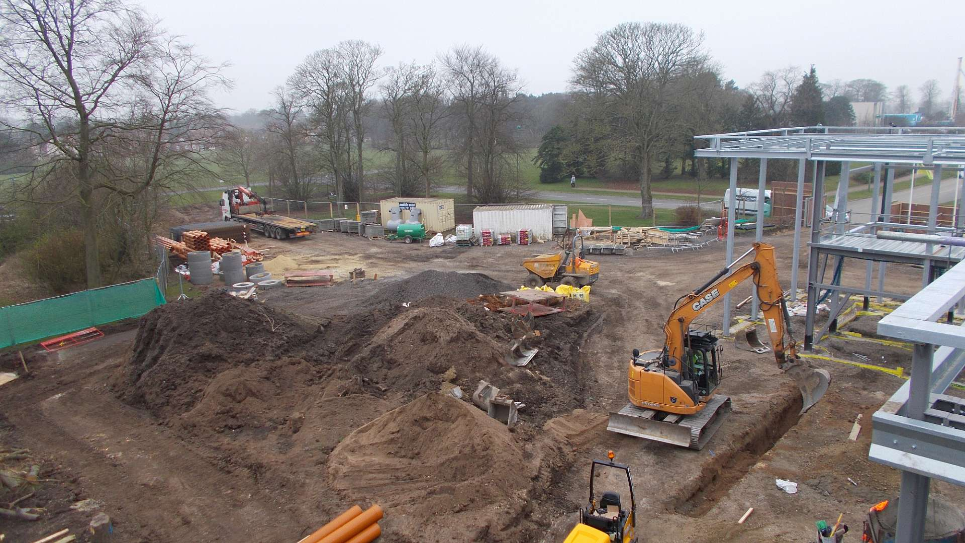 A photo of the construction of the National Formulation Centre