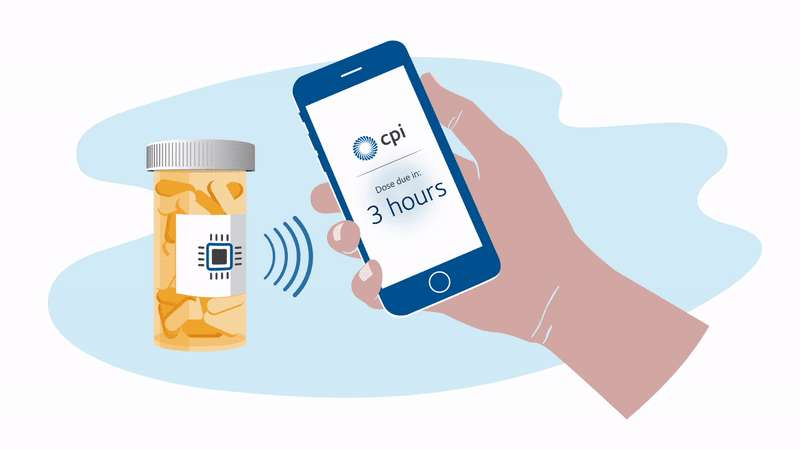 GPS hyperlabels from M-Connected will tell a smartphone where your drug is in the supply chain