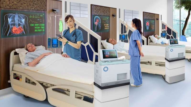 A photo of how hospital wards could look in the future